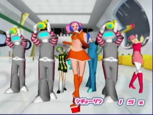 Ulala and Morolians in Space Channel 5